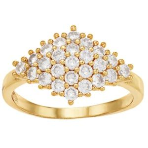 🆕Lauren Conrad Gold Tone Stone Pave Ring